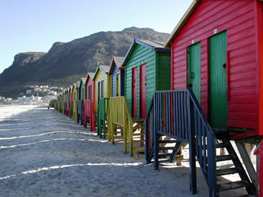 Muizenberg beach huts in Cape Town