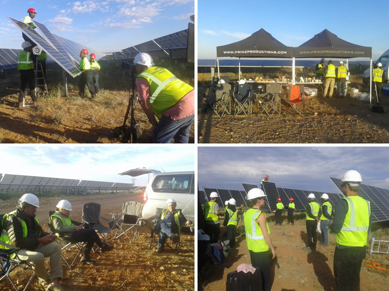 Total renewable energy shoot - North West Province - South Africa